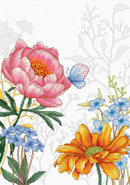 Flowers and Butterfly Cross Stitch Kit by Luca S