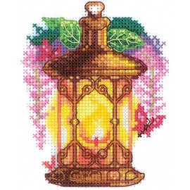 LIGHTS. WISTARIA CROSS STITCH KIT BY ANDRIANA