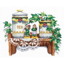 MIDDAY TEA -CROSS STITCH KIT BY ANDRIANA