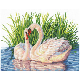 PAIR OF SWANS -CROSS STITCH KIT BY ANDRIANA