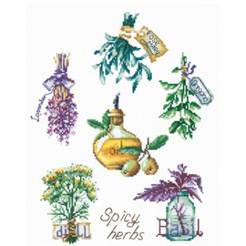 SPICY HERBS-CROSS STITCH KIT BY ANDRIANA