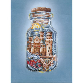 TRAIN TO A FAIRYTALE-cross stitch kit by Andriana