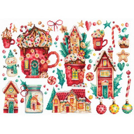 CHRISTMAS SWEETS-cross stitch kit by Andriana