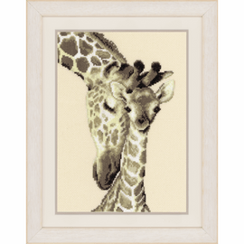 Counted Cross Stitch Kit: Giraffe Family By Vervaco