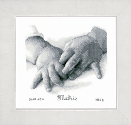 Counted Cross Stitch Kit: Baby Hands By Vervaco