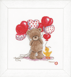 Popcorn: Counted X Stitch Kit: Beautiful Balloons By Vervaco