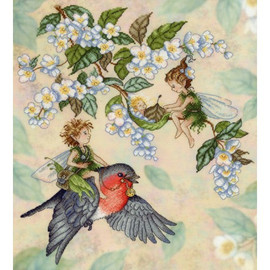 Elf Fairy Tale Printed Aida Cross Stitch Kit By Mp Studia