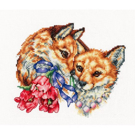 HAPPY TOGETHER-cross stitch kit by Andriana