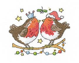 Christmas Kiss Cross Stitch Kit by Heritage