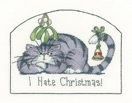 I Hate Christmas Cross Stitch Kit By Heritage Crafts