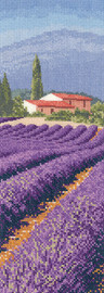 Lavender Fields Cross Stitch Kit by Heritage