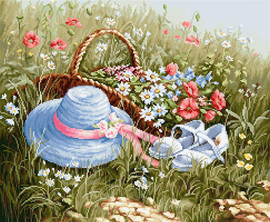 Meadow with Poppies-cross stitch kit by Luca-s