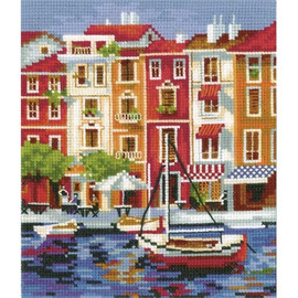 QUIET HARBOR-cross stitch kit by Andriana