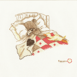 Counted Cross Stitch Kit: Popcorn Cuddle Up By Vervaco