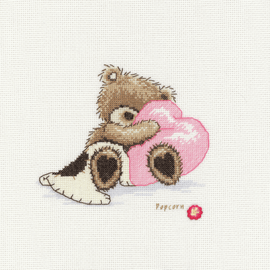 Popcorn the Bear Counted Cross Stitch Kit Dreaming By Vervaco