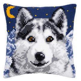 Cross Stitch Kit: Cushion: Wolf  By Vervaco
