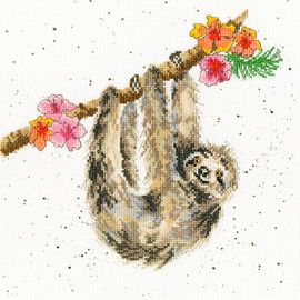 Wrendale Hanging Around Cross stitch Kit by Bothy Threads