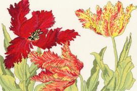 Tulip Bloom Cross Stitch Kit By Bothy Threads