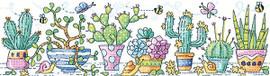 Cactus Garden Cross Stitch Kit by Heritage