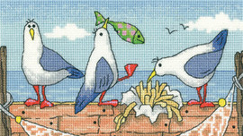 Fish'N'Chips Cross Stitch By Heritage