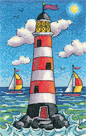 Light House By Day Cross Stitch By Heritage