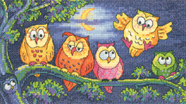 A Hoot Of Owls Cross Stitch By Heritage