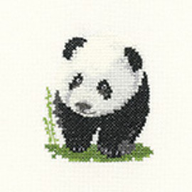 Little Friends Panda Cross Stitch Kit by Heritage