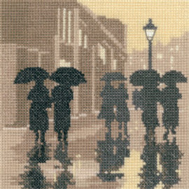 Brollies Cross Stitch Kit by Heritage