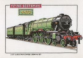 Flying Scotsman Cross Stitch Kit by Heritage