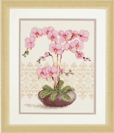 Counted Cross Stitch Kit: Pink Orchid by Vervaco