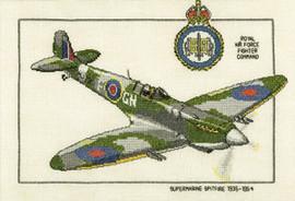 Supermarine Spitfire Cross Stitch Kit by Heritage