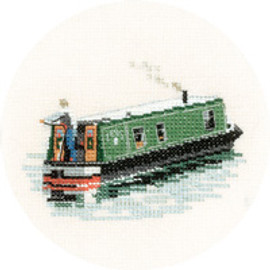 Modern Narrow Boat Cross Stitch Kit by Heritage