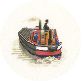 Traditional Narrow Boat Cross Stitch Kit by Heritage