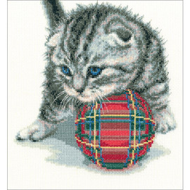 Playful Kitten Cross Stitch Kit by RTO