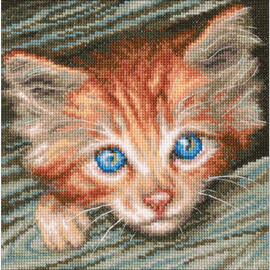 Fluffy Observer Cross Stitch Kit by RTO