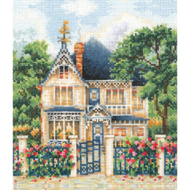 COUNTRY HOUSE -cross stitch kit by Andriana