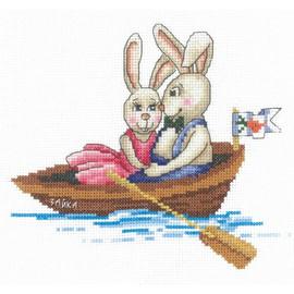 BUNNIES MY DARLING-cross stitch kit by Andriana