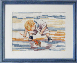 Star fish Finder Cross Stitch kit by Fayne Whittaker