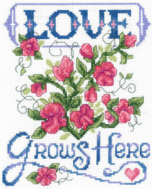 Love Grows Here  Cross Stitch Chart by Ursula Michaels