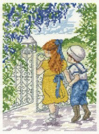 Secret Garden Cross Stitch Kit by All our yesterdays