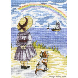 Rainbow Cross Stitch Kit by All our yesterdays