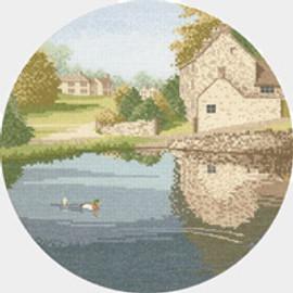 Duck Pond cross stitch kit by John Clayton