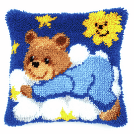 Latch Hook Kit: Cushion: Teddy By Vervaco