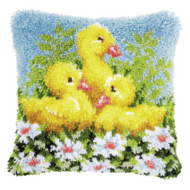 Latch Hook Kit: Cushion: Ducks By Vervaco