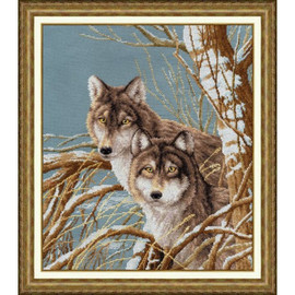 Forest Friends Cross Stitch Kit by Golden Fleece