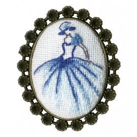 Dancer Brooch Cross Stitch Kit by Golden Fleece