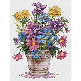 Bouquet of Inspiration Cross Stitch Kit by MP Studia