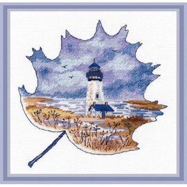 Yaquina Head Lighthouse Cross Stitch Kit by Oven