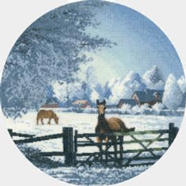 Hard Frost cross stitch kit by John Clayton