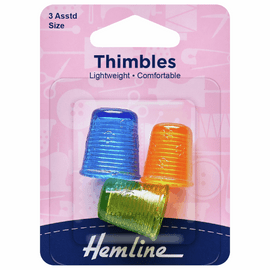 Thimble: Light Weight: 3 Assorted Sizes
